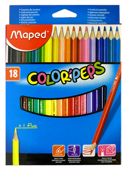 Maped - Pastelky color peps 18 ks