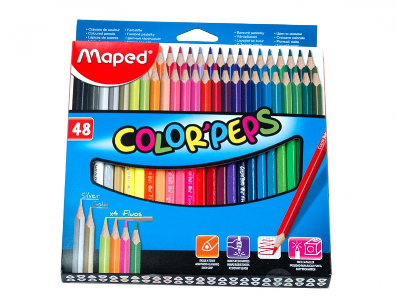 Maped - Pastelky color peps 48 ks