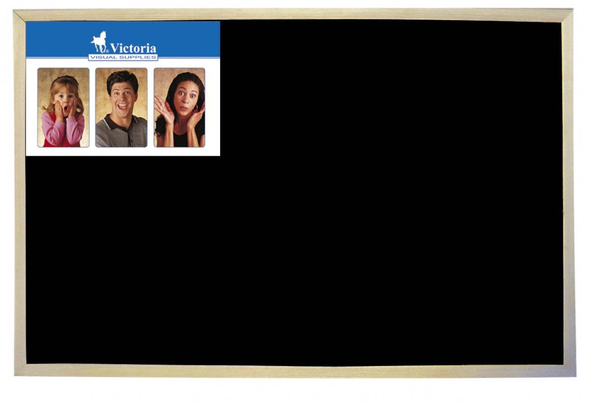 Drevená tabuľa čierna  - 60  x 90 cm
