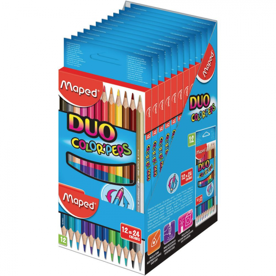 Maped - Pastelky Color Peps  DUO 12=24ks