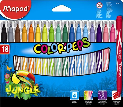 Maped - Fixy Color Peps JUNGLE 18 ks