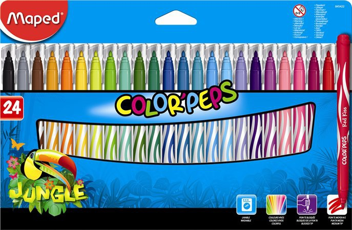 Maped - Fixy Color Peps JUNGLE 24ks